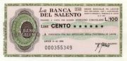 100 Lire - La Banca del Salento – obverse