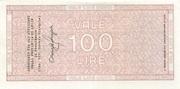 100 Lire - La Banca del Salento – reverse
