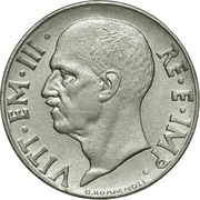 20 Centesimi - Vittorio Emanuele III (magnetic; reeded edge) – obverse