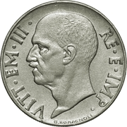 20 Centesimi - Vittorio Emanuele III (magnetic; smooth edge) – obverse