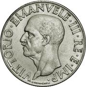 1 Lira - Vittorio Emanuele III (magnetic) -  obverse