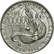 10.000 Lire (1994 World Cup) – reverse