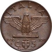 5 Centesimi - Vittorio Emanuele III – reverse