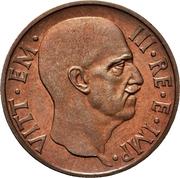 5 Centesimi - Vittorio Emanuele III (first type; trial strike) – obverse