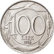 100 Lire -  reverse