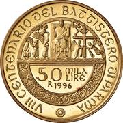50 000 Lire (Battistero of Parma) – reverse