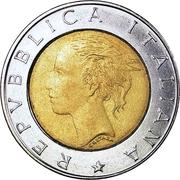 500 Lire (I.S.T.A.T.) -  obverse