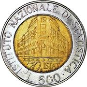 500 Lire (I.S.T.A.T.) -  reverse