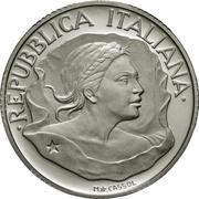 10 000 Lire (Italian National Flag) – obverse