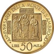 50 000 Lire (Saint Ambrose) – reverse