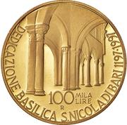 100 000 Lire (San Nicola of Bari) – reverse