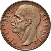 10 Centesimi - Vittorio Emanuele III (first type; trial strike) – obverse