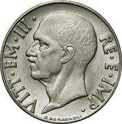 20 Centesimi - Vittorio Emanuele III (non-magnetic; reeded edge) – obverse