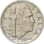 20 Centesimi - Vittorio Emanuele III (Trial strike) – reverse
