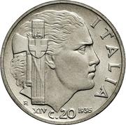 20 Centesimi - Vittorio Emanuele III – reverse