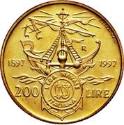 200 Lire (Italian Naval League) -  reverse