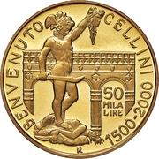 50 000 Lire (Benvenuto Cellini) – reverse