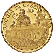 50 000 lire (Reggia di Caserta) – reverse