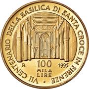 100 000 Lire (Basilica of Santa Croce) -  reverse