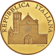 100 000 Lire (Basilica of San Francesco in Assisi) – obverse