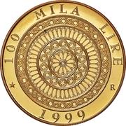 100 000 Lire (Basilica of San Francesco in Assisi) – reverse