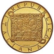 100 000 Lire (First Jubilee) – obverse