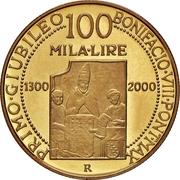 100 000 Lire (First Jubilee) – reverse