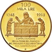 100 000 Lire (Torre del Mangia) – reverse