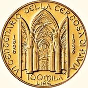 100 000 Lire (Certosa di Pavia) – reverse