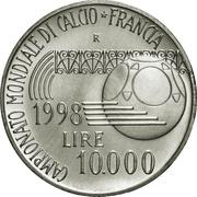 10 000 Lire (1998 World Cup) – reverse