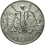 10 000 Lire (The Peace) – reverse