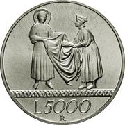 5000 Lire (The Solidarity) – reverse