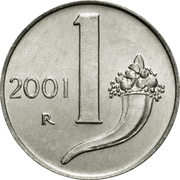 1 Lira -  reverse