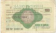 100 Lire (Banco di Sicilia) – obverse
