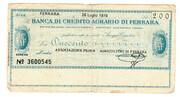 200 Lire (Banca di credito agrario di Ferrara) – obverse