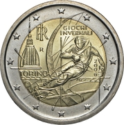 2 Euro (2006 Winter Olympics - Turin) -  obverse