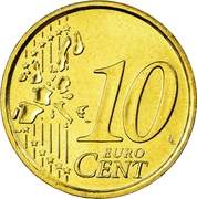 10 Euro Cent (1st map) -  reverse