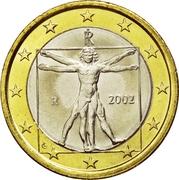 1 Euro (1st map) – obverse