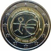 2 Euro (10 Years of EMU) – obverse
