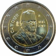 2 Euro (Count of Cavour) – obverse