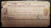 150 Lire (Banca di credito agrario di Ferrara) – obverse