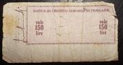 150 Lire (Banca di credito agrario di Ferrara) – reverse