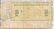 100 Lire (La Banca Di Credito Agrario Di Ferrara) – reverse