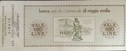 100 Lire - Banca Agricola Commerciale di Reggio Emilia – reverse