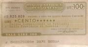 100 Lire - Banca Cattoliga Del Veneto – obverse