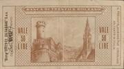 50 Lire - Banca Di Trento E Bolzano – reverse