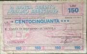 150 Lire -  la Banca Credito Agrario Bresciano – obverse