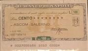 100 Lire - Il Banco di Napoli – obverse