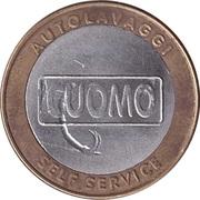 Car Wash Token - Cuomo Autolavaggi (Pescia, Tuscany ) – reverse