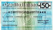 150 Lire (Crédito Italiano) – obverse